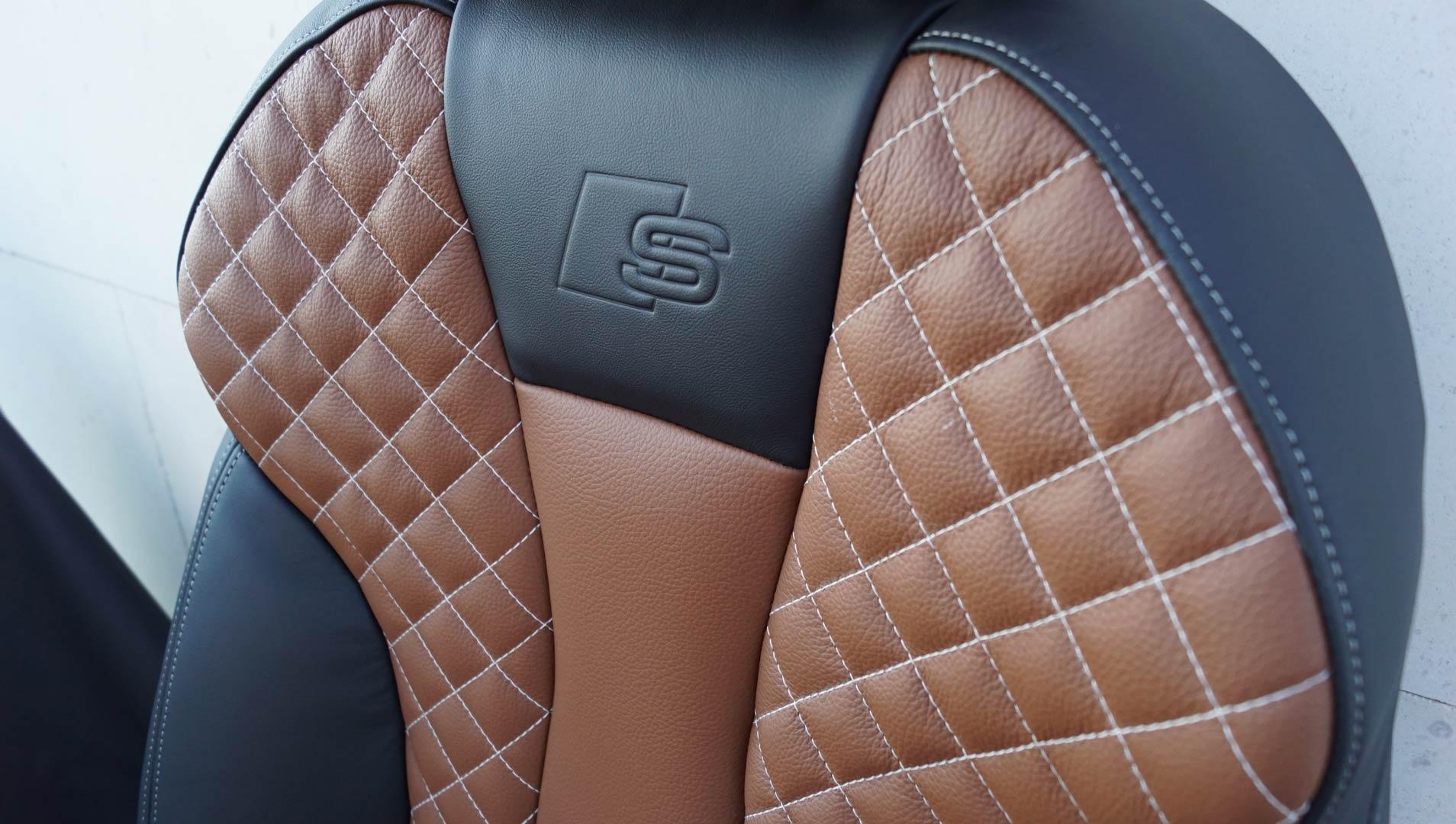 Tapicería de cuero butaca Audi